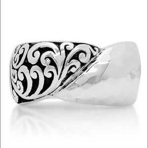 Lois Hill Sterling Silver Scroll Cigar Band Ring